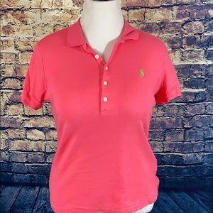 Ralph Lauren Sport Slim Fit Size XL Pink Polo